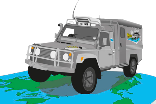 Illustration for Adventure Travel Vehicle